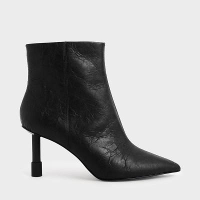 スティレットヒール アンクルブーツ / Stiletto Heel Ankle Boots (Black)