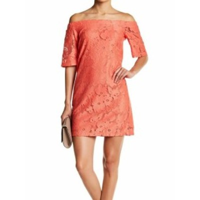 Donna Morgan ドナモーガン ファッション ドレス Donna Morgan NEW Tea Rose Orange Womens Size 10 Lace Shift Dress