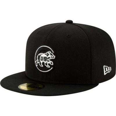 ニューエラ New Era メンズ キャップ 帽子 Chicago Cubs 59Fifty Black Batting Practice Fitted Hat