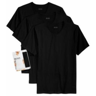 BOSS ボス ファッション トップス Hugo Boss Mens 3 Pack Pure Cotton Regular Fit V-Neck Shirt T-Shirt 50325386