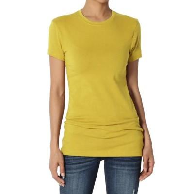 レディース 衣類 トップス TheMogan Women's Baisc Crew Neck Short Sleeve Tee Stretch Plain Cotton T-Shirts Tシャツ