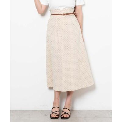 WEGO / WEGO/ハイウエストドットフレアスカート WOMEN スカート > スカート