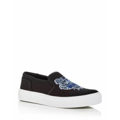 ケンゾー レディース スニーカー シューズ Women's K-Skate Embroidered Slip On Sneakers Black