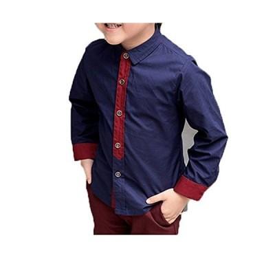 (ココイチヤ)COCO1YA 男の子 子供 卒業式 入学式 シャツ 子供 ワイシャツ 長袖 こども ワイシャツ 発表会 (100(身長90cm), ネ