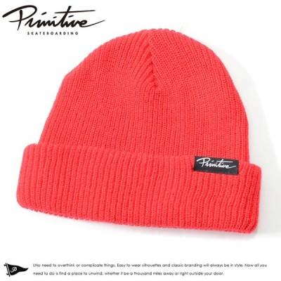 アウトレット PRIMITIVE プリミティブ ニットキャップ ビーニー 帽子 折り返し ボックスピス スクリプトロゴ * セール