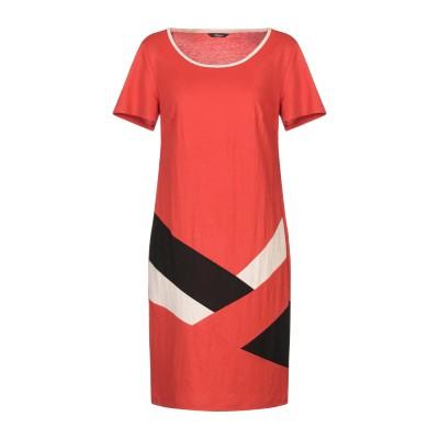 METEORE ミニワンピース&ドレス 赤茶色 46 レーヨン 50% / ナイロン 50% ミニワンピース&ドレス