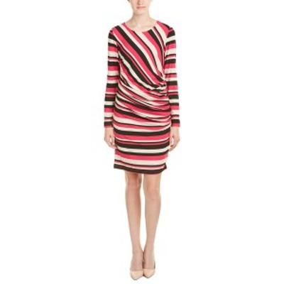 サラキャンベル レディース ワンピース トップス Sara Campbell Sheath Dress pink, oat, and black stripes