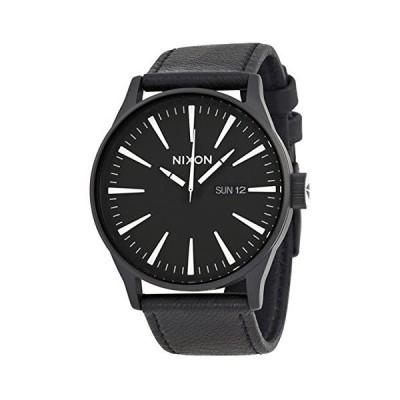 あすつく ニクソン NIXON メンズ Sentry ブラック文字盤 レザー A105-005 腕時計