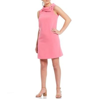 アレックスマリー レディース ワンピース トップス Rachel Solid Stretch Dobby Twill Crepe Envelope Collar Shift Dress