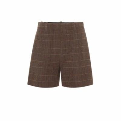 クロエ Chloe レディース ショートパンツ ボトムス・パンツ High-rise checked wool shorts Multicolor 1