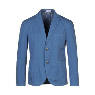 サンシックスティエイト SUN 68 テーラードジャケット ブルー S コットン 100% テーラードジャケット