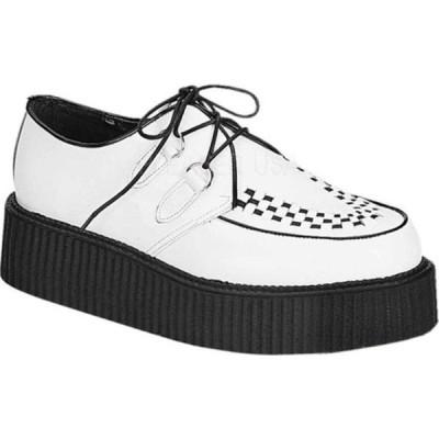 デモニア スニーカー シューズ メンズ Creeper 402 (Men's) White Leather