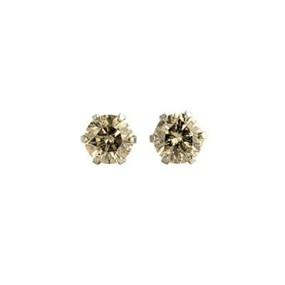 【 DIAMOND WORLD 】レディース ジュエリー PT900 ダイヤモンド ピアス 0.40ct ライトブラウンカラー ダイヤ使用 6本爪