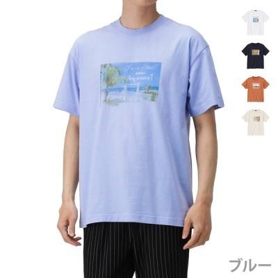 MOSSIMO モッシモ Tシャツ 半袖 半袖Tシャツ メンズ クルーネック フォトプリント