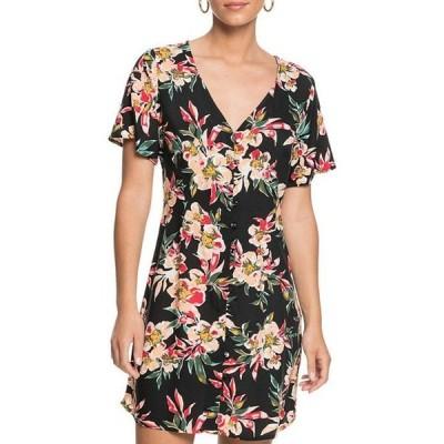 ロキシー レディース ワンピース トップス Damage Love Floral Button Front Dress