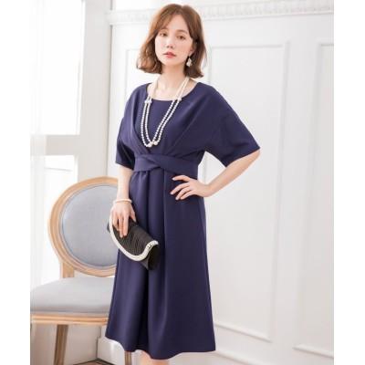 【ドレス スター】 2WAYウエストリボンワンピースドレス レディース ネイビー XXXLサイズ DRESS STAR