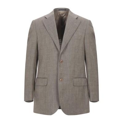 LUBIAM テーラードジャケット カーキ 50 バージンウール 50% / シルク 30% / リネン 20% テーラードジャケット