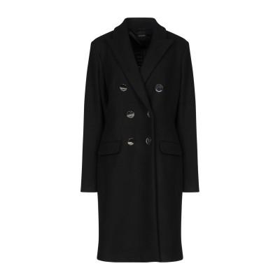 CRISTINAEFFE コート ブラック 46 アクリル 50% / ポリエステル 45% / ウール 5% コート