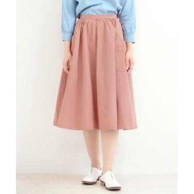 【マリン フランセーズ/LA MARINE FRANCAISE】 コットン/ナイロン 後ろ釦スカート