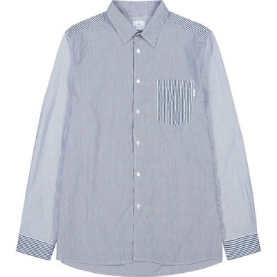 ポールスミス PS by Paul Smith メンズ シャツ トップス blue striped cotton shirt White