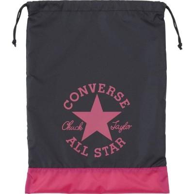 CONVERSE(コンバース)スポーツバッグマルチバッグ星かわいいアンクルパッチランドリーバッグブラック/マゼンタ(con-c1912094-1963)