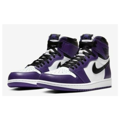 2020 国内黒タグ  NIKE AIR JORDAN 1 RETRO HIGH OG US9/27cm ナイキ エア ジョーダン 1 レトロ ハイ OG COURT PURPLE/BLACK/WHITE 555088-500