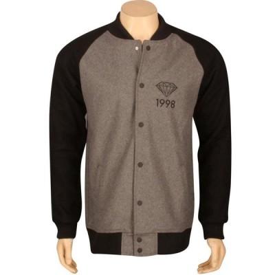 ダイアモンドサプライ Diamond Supply Co メンズ ブルゾン アウター Brilliant 98 Varsity Jacket grey/black