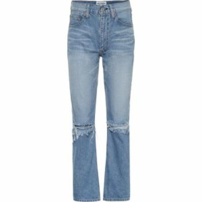ジュンヤ ワタナベ Junya Watanabe レディース ジーンズ・デニム ボトムス・パンツ High-rise distressed jeans Indigo