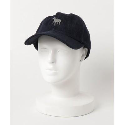 go slow caravan / デニム刺繍ベースボールキャップ WOMEN 帽子 > キャップ