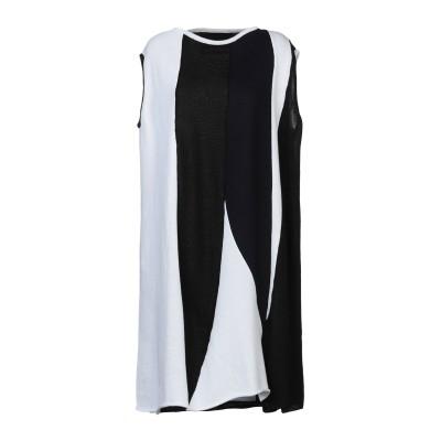COLLECTION PRIVĒE? ミニワンピース&ドレス ホワイト 40 リネン 100% ミニワンピース&ドレス