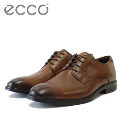 エコー ECCO MELBOURNE Plain Toe Tie  621634 アンバー(メンズ)上質レザーのビジネスシューズ プレーントゥ レースアップ