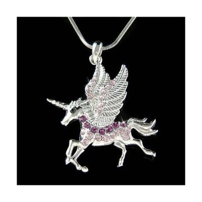 ネックレス インポート スワロフスキ クリスタル ジュエリー ~Purple Unipeg~ made with Swarovski Crystal HORSE UNICORN Fairy Necklace Jewelry