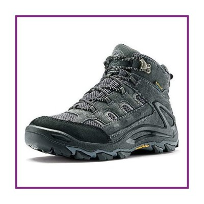 ROCKROOSTER Newland Hiking Boots for Men- Grey, 6'' Water Resistant Non-Slip Outdoor Mountaineering Boots, Ankle, Anti-Fatigue, Comfortable(