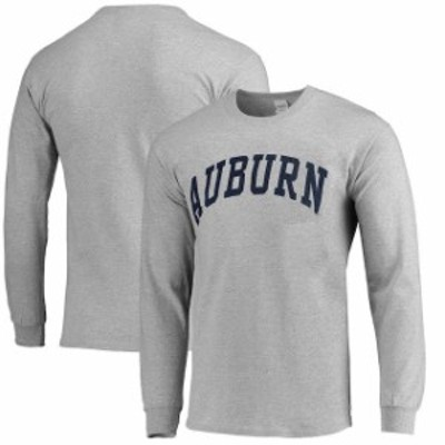 New Agenda ニュー アジェンダ スポーツ用品  Auburn Tigers Ash Vertical Arch Long Sleeve T-shirt