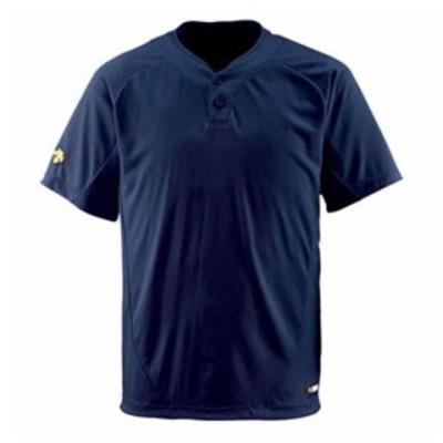 デサント ベースボールシャツ(DNVY・サイズ:O) DESCENTE ベースボールシャツ(2ボタン) DS-DB201-DNVY-O 【返品種別A】