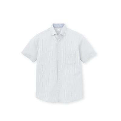 TAKEO KIKUCHI(タケオキクチ)COOLMAX サッカーストライプカットソー半袖シャツ