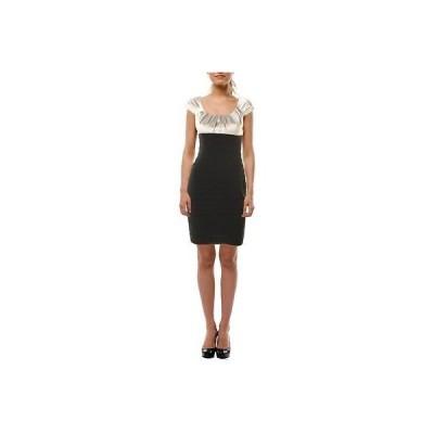ドレス 女性  アクア アクア 3066 レディース ブラック Pleated Cap スリーブs Sheath Clubwear ドレス Juniors 2