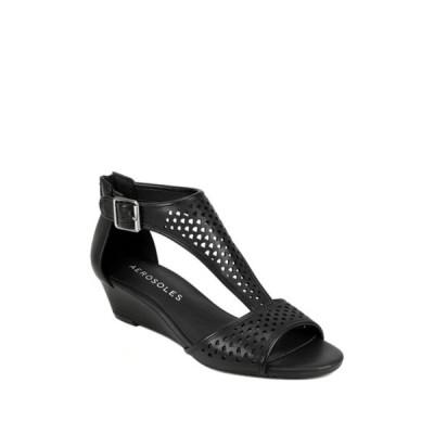 エアロソールズ レディース サンダル シューズ Sapphire Wedge Sandal BLACK