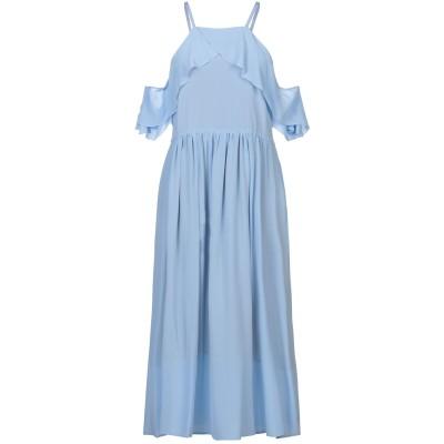 セミクチュール SEMICOUTURE 7分丈ワンピース・ドレス スカイブルー 42 シルク 100% 7分丈ワンピース・ドレス