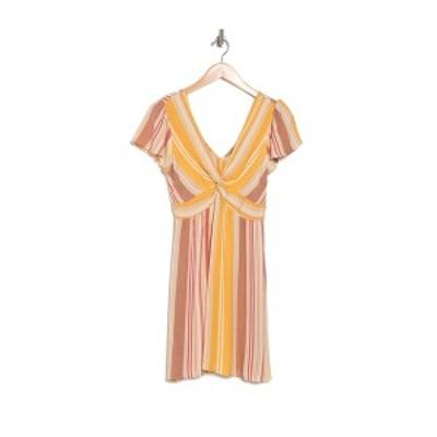 アンジー レディース ワンピース トップス Stripe Front Twist Mini Dress MULTI