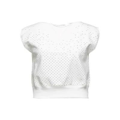 フェイス・コネクション FAITH CONNEXION スウェットシャツ ホワイト M コットン 100% / ポリウレタン / ガラス スウェット