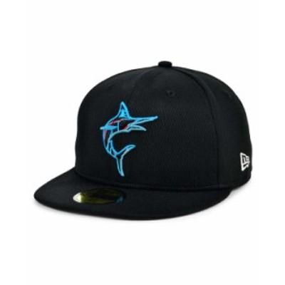 ニューエラ メンズ 帽子 アクセサリー Miami Marlins 2020 Batting Practice 59FIFTY-FITTED Cap Black