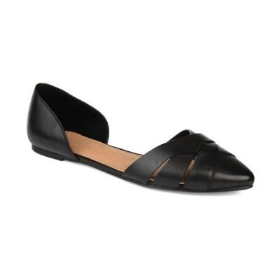 ジャーニーコレクション サンダル シューズ レディース Women's Brandee Flats Black