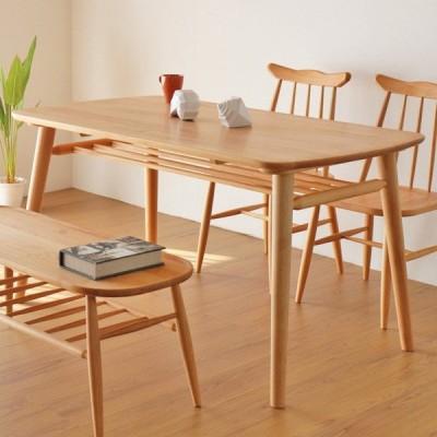 ダイニングテーブル 食卓 天然木 アルダー材 NORN 幅130cm ( テーブル 食卓テーブル 机 )