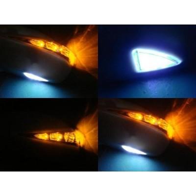 ホンダ GD系 フィットアリア フットランプ付きLEDウインカードアミラーカバー 未塗装