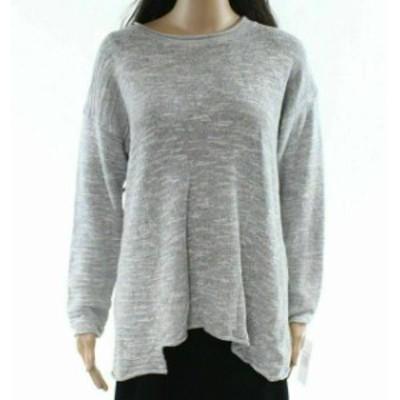 ファッション トップス G9C NEW Light Gray Womens Size Medium M Knitted Pullover Sweater