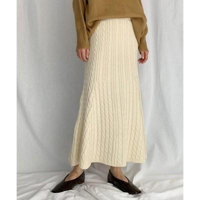 スカート ケーブル編みマーメイドスカート