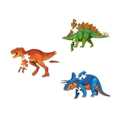 Learning Resources Jumbo Dinosaur Puzzle Bundle, Homeschool Supplies, Dino Puzzles, Ages 3+ 並行輸入品