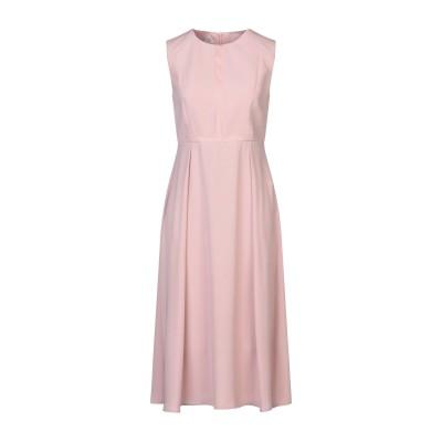 BIANCOGHIACCIO 7分丈ワンピース・ドレス ピンク 42 ポリエステル 100% / ポリウレタン / レーヨン 7分丈ワンピース・ドレス