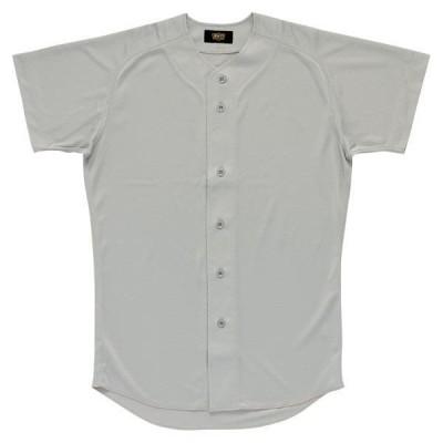[ZETT]ゼット野球 ユニフォームシャツ (BU1071)(1300) シルバー[取寄商品]